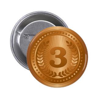 Bronze medal 3rd place winner sticker 6 cm round badge