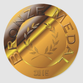 Bronze Medal with year option Classic Round Sticker