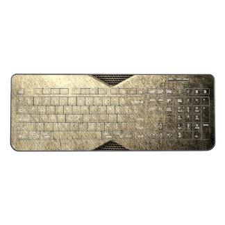 Bronze Metal wireless keyboard