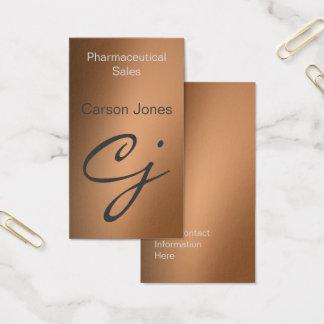 Bronze Metallic Professional Business Card