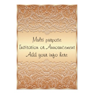 Bronze Multi Purpose Invitation Announcement