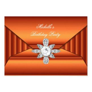 Bronze Orange Birthday Party Jewel Purse Look 13 Cm X 18 Cm Invitation Card