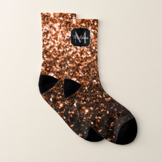 Bronze Orange Brown glitters sparkles Monogram 1