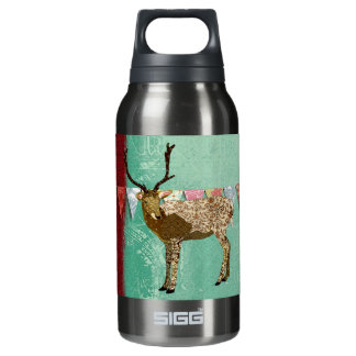 Bronze Ornate Buck Liberty Bottle 10 Oz Insulated SIGG Thermos Water Bottle