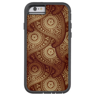 Bronze Paisley iPhone 6 Tough Extreme Case Tough Xtreme iPhone 6 Case