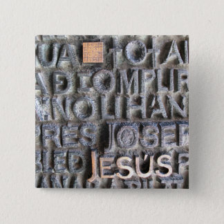 Bronze Plaque Jesus Sagrada Familia Photo BUTTON
