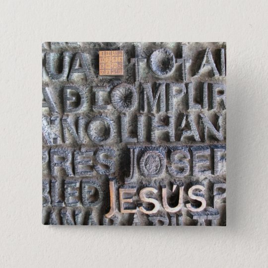 Bronze Plaque Jesus Sagrada Familia Photo BUTTON