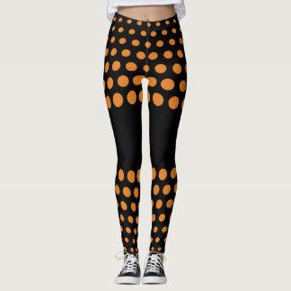 Bronze Polka Dot Pattern Leggings