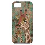 Bronze Rosa  Giraffes  Damask  iPhone Case iPhone 5 Cases