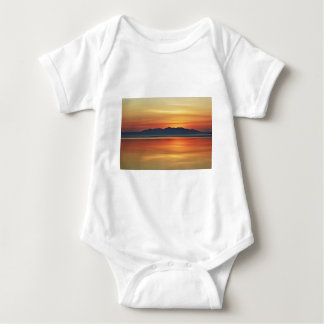 Bronze Shore Digital Art by David Alexander Elder Baby Bodysuit