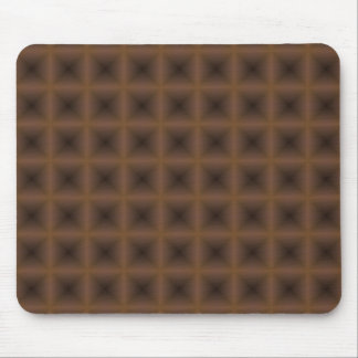 bronze square abstract design mousepads