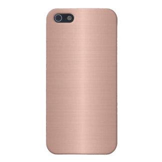 Bronze Stainless Steel Metal 2 iPhone 5 Cases