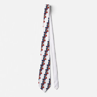 Bronze Star on American flag Tie
