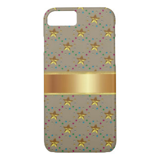 Bronze Star with Gold iPhone 7 Case