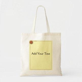 Bronze Sun on Cream Background Tote Bag