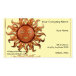 Bronze Sun on Cream Background Pack Of Standard Business Cards