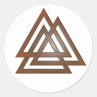 Bronze Valknut Stickers