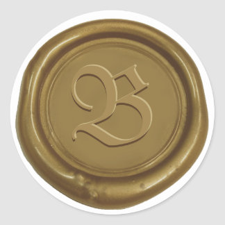 Bronze Wax Seal Custom Monogram Letter