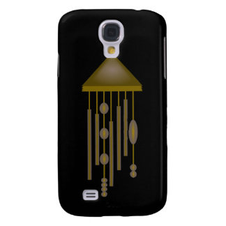 Bronze Wind Chime With Ovals And Circles Galaxy S4 Case