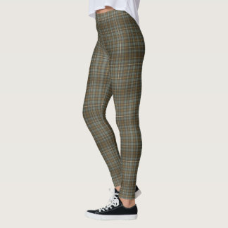 (bronzed gray plaid) leggings