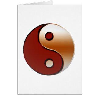 Bronzed Yin Yang Greeting Card