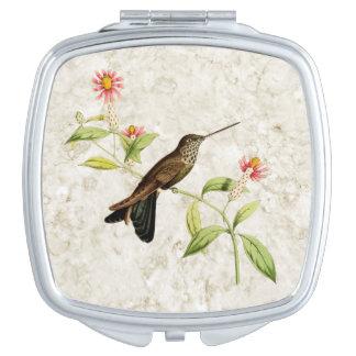Bronzy Inca Hummingbird Compact Mirror