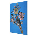 Brooch in form of large bouquet with brilliant canvas prints