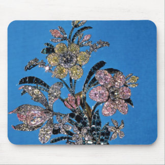 Brooch in form of large bouquet with brilliant mouse mat