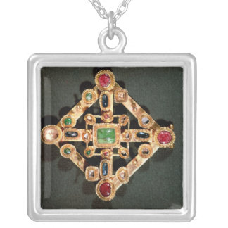 Brooch in the form of a Greek cross Silver Plated Necklace
