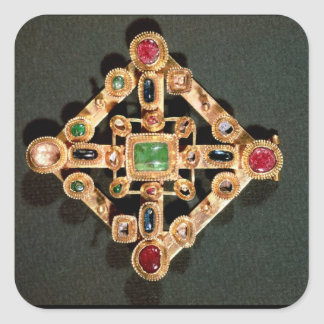 Brooch in the form of a Greek cross Square Sticker