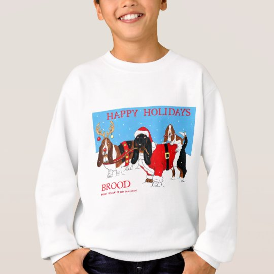 brood happy holidays sweatshirt