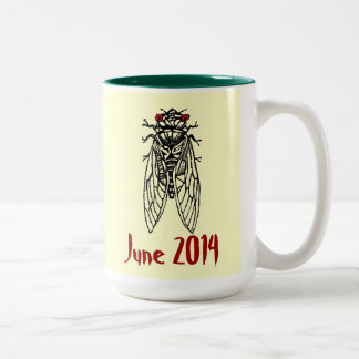 Brood XXIII Cicada Two-Tone Coffee Mug