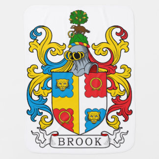 Brook Family Crest Baby Blanket
