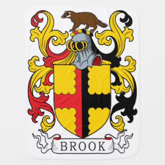 Brook Family Crest Baby Blankets