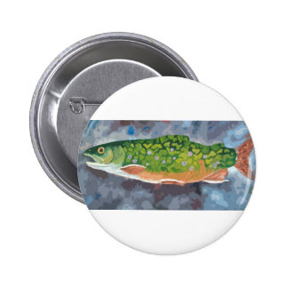 Brook Trout 6 Cm Round Badge