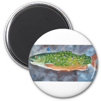 Brook Trout 6 Cm Round Magnet