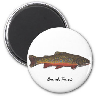 Brook Trout 6 Cm Round Magnet