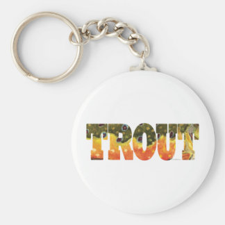 Brook Trout Art Basic Round Button Key Ring