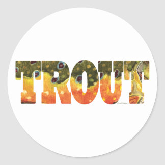 Brook Trout Art Classic Round Sticker