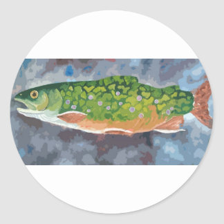 Brook Trout Classic Round Sticker
