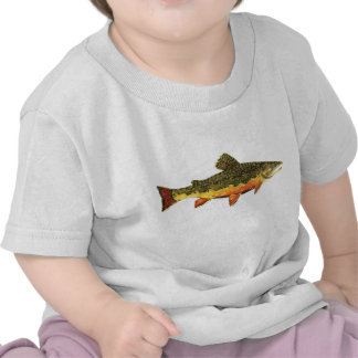 Brook Trout Fish Painting Tshirt