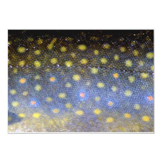 Brook Trout Fish Scales Party 13 Cm X 18 Cm Invitation Card
