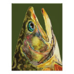 Brook Trout Fisherman Poster