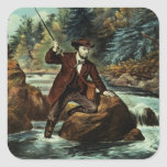 Brook Trout Fishing - An Anxious Moment, 1862 Stickers