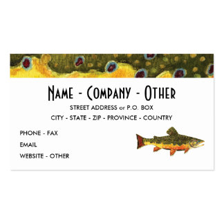 Brook Trout Fishing Double-Sided Standard Business Cards (Pack Of 100)