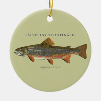 Brook Trout Fishing Christmas Ornament