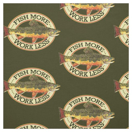 Brook Trout Fishing Fabric