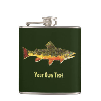 Brook Trout Fishing Hip Flask