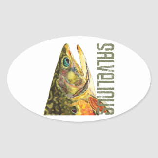 Brook Trout Fishing Stickers