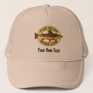 Brook Trout Fly Fisherman Trucker Hat